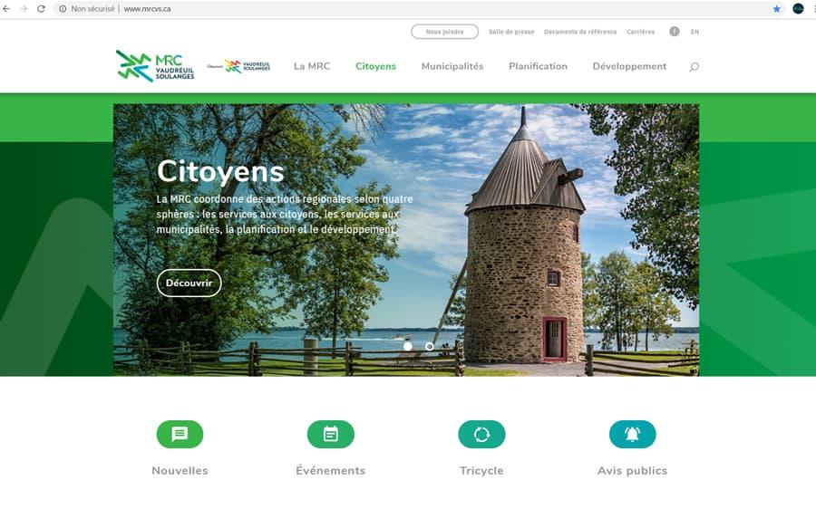 DEV et la MRC de Vaudreuil-Soulanges dévoilent leurs nouveaux sites Internet