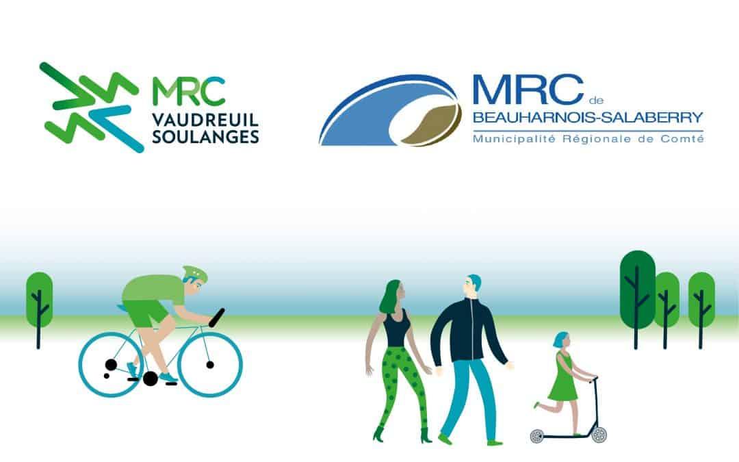Les MRC de Beauharnois-Salaberry et de Vaudreuil-Soulanges s'unissent pour assurer un lien cyclable