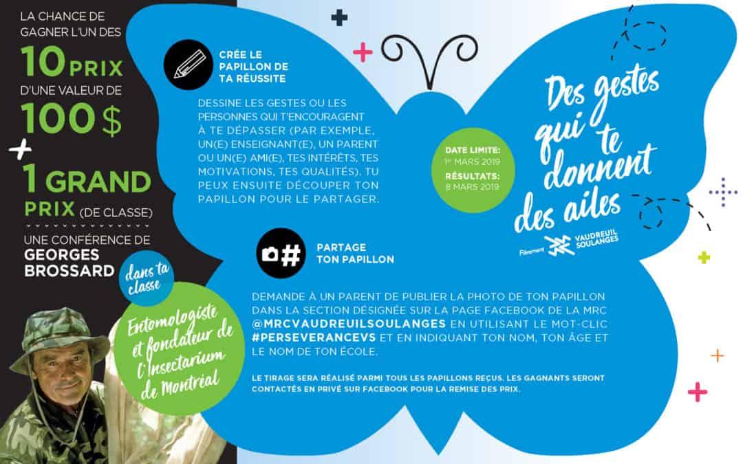 La MRC de Vaudreuil-Soulanges lance un concours pour les jeunes afin de reconnaître les petits gestes qui favorisent la persévérance scolaire