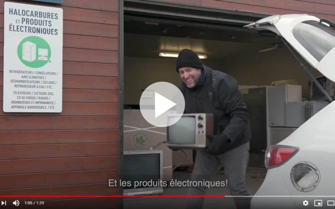 La MRC de Vaudreuil-Soulanges lance une série de capsules vidéo pour faire connaître son Réseau des écocentres