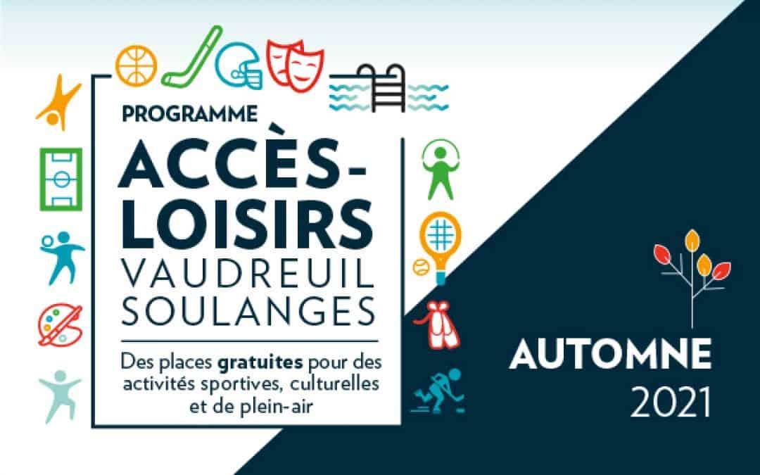 Accès-Loisirs est de retour cet automne avec une foule de places gratuites pour des activités de loisirs!
